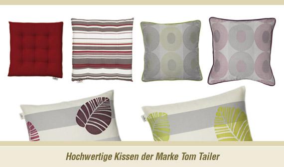 kissen von tom tailor gardinen shop dortmund gardinen. Black Bedroom Furniture Sets. Home Design Ideas
